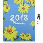 2018AN mensuel Planning hebdomadaire ordinateur portable Imprimé floral temps de calendrier Organiseur Agenda Journal bloc-notes, format A4 taille unique bleu de la marque Cuddty image 1 produit
