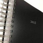 2018Grand Journal Agenda / agenda de bureau à spirales–Noir–365Jours = 365pages DIN A4avec couverture rigide noire de la marque edition cumulus image 2 produit