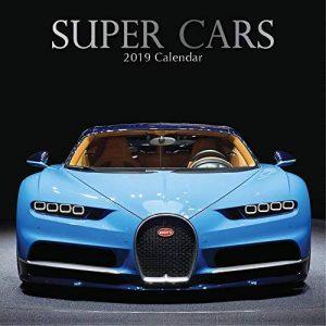 2019Super Cars–12x 12Calendrier mural–avec 180Calendrier Stickers de la marque The Gifted Stationary Company image 0 produit