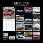 2019Super Cars–12x 12Calendrier mural–avec 180Calendrier Stickers de la marque The Gifted Stationary Company image 3 produit