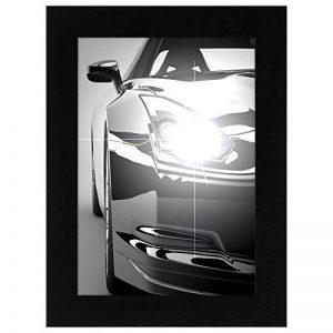 A5 (14.8x21 cm) Cadre Photo Noir Bois avec Vitre de Verre - Conçu pour Encadrer Photos 14.8x21 cm - Matériel d'Accrochage Inclus de la marque Amflat image 0 produit