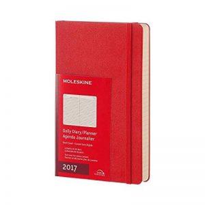 Agenda 2017 journalier grand format rigide rouge de la marque Moleskine image 0 produit