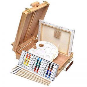 Artina set de peinture complet acrylique Florenz de 27pieces idéal pour les loisirs - Chevalet de table + accessoires de la marque Artina image 0 produit