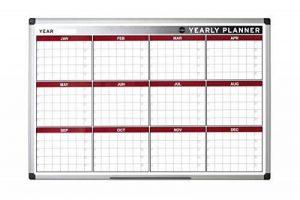 Bi-Office Tableau blanc 90x60cm Planning annuel magnétique 12mois de la marque Bi-OFFICE image 0 produit