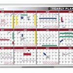 Bi-Office Tableau blanc 90x60cm Planning annuel magnétique 12mois de la marque Bi-OFFICE image 1 produit