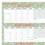 Boxclever Press 2018/2019 Planning scolaire mural. Format paysage, bloc mensuel, en anglais. Pour la maison ou le bureau. D'août 2018 à juillet 2019. Disponible en laminé ou non laminé. (Non-Laminé) de la marque Boxclever Press image 1 produit