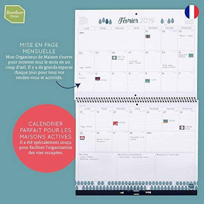 Grand Calendrier Mural 2019.Calendrier Grand Format Le Comparatif Bureau Efficace