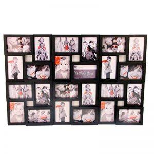 Cadre photo pêle-mêle mural coloris noir capacité 24 photos de la marque Atmosphera image 0 produit