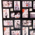 Cadre photo pêle-mêle mural coloris noir capacité 24 photos de la marque Atmosphera image 1 produit
