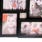 Cadre photo pêle-mêle mural coloris noir capacité 24 photos de la marque Atmosphera image 2 produit