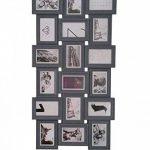 Cadre photo pêle-mêle mural PANORAMIQUE - Capacité 18 photos - Coloris GRIS de la marque Atmosphera image 1 produit
