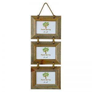 """Cadre pour 3 photos - à accrocher - en bois - 15,2 x 10,1 cm (6 x 4"""") de la marque Nicola Spring image 0 produit"""