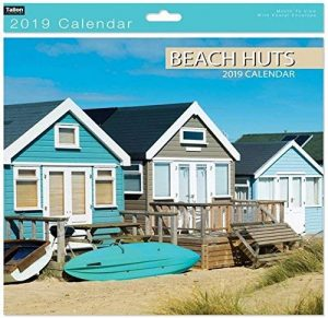 Calendrier - Aqua Blue Beach Huts murale de 2019 mois carrés pour visualiser la Photo panoramique de la marque Tallon image 0 produit