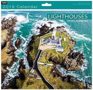 Calendrier - phares Turquoise murale de 2019 mois carrés pour visualiser la Photo panoramique de la marque Tallon image 0 produit
