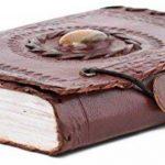 Carnet de notes de luxe indiary en cuir de buffle et papier puisé à la main - avec des pierres naturelles - Tiger eye Stone de la marque indiary image 2 produit