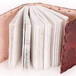Carnet de notes de luxe indiary en cuir de buffle et papier puisé à la main - avec des pierres naturelles - Tiger eye Stone de la marque indiary image 4 produit