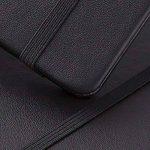 Carnet Ligné/Ruled Notebook - Lemome A5 Classique Cahier d'écriture Premium (125g/m²) Faux Cuir Noir, Couverture Rigide, Grand, Lined Journal, (5 x 8.25 inch),Lot de 2 de la marque Lemome image 3 produit