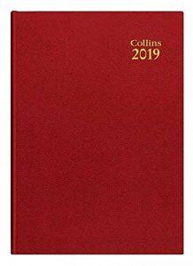 Collins 44Rouge 2019A42019Desk Jour par page Agenda–Rouge de la marque Collins image 0 produit