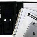 Conférencier porte-document RFID avec classeur pochettes amovibles en papier A4 – Parfait pour réunion – Porte-carte professionnel noir, organiseur en cuir et porte-document bureau de la marque AmazingStuffs image 4 produit