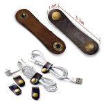 Cordon de serrage réutilisable en cuir - Idéal pour organiser des câbles, ranger ses écouteurs ou un câble USB de la marque BTHEONE image 1 produit
