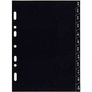 Exacompta 18223 Recharge Intercalaire Alphabétique A-Z Plastique pour Organiseur Exatime 17 12 Feuillets Noir de la marque Exacompta image 0 produit