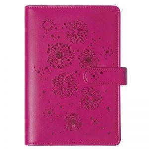 Exacompta Exatime Flora 42447E - couverture au toucher doux et floral en creux - Septembre 2018 à Décembre 2019 - fermeture avec un bouton magnétique - 11 x 14,5 cm - coloris rose de la marque Exacompta image 0 produit