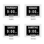 Excelvan DC8001 Horloge Calendrier avec Date Jour et Heure Non-Abrégée Auto Dimming de la marque Excelvan image 4 produit