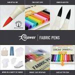 Feutres Couleur Marqueur Textile Indélébile – Feutre Textile – Marqueur Permanent – Stylo Peinture de la marque Bower image 1 produit
