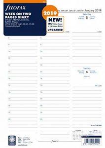 Filofax 19–68714A4semaine sur deux pages 2019Agenda de la marque Filofax image 0 produit