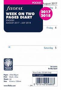 Filofax Agenda de poche/semainier, année scolaire britannique août 2017/juillet 2018 [en anglais] de la marque Filofax image 0 produit