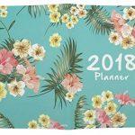 FORMAT A4, 2018AN mensuel Planning hebdomadaire ordinateur portable Imprimé floral temps de calendrier Organiseur Agenda Journal Carnet de notes taille unique Green de la marque Hossty image 2 produit