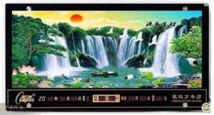 FortuneVin Horloge Silencieuse Amovible Horloge Murale Décoration Pendules murales Calendrier électronique numérique peintures de Paysage Led16 en Troisième, l'eau Qui coule de la marque FortuneVin image 0 produit