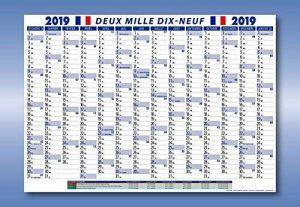 France Wandkalender-Shop. de Calendrier mural Calendrier mural 2019plié de la marque Die Kalenderversender image 0 produit