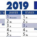France Wandkalender-Shop. de Calendrier mural Calendrier mural 2019plié de la marque Die Kalenderversender image 2 produit