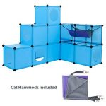 FrontPet Chat Condo/XL Modular Cat Cube 109Pièces Chat Condo/Chat Cube/Tunnel pour Chat/DIY Arbre à Chat Cat Tower/kit/Construisez Votre Propre Maison de Chat Entièrement Personnalisable par, Bleu de la marque FrontPet image 1 produit