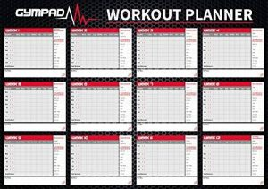GymPad - Planning d'entraînement Fitness sur 12semaines, Noir, Taille A2, Unisexe de la marque GymPad image 0 produit