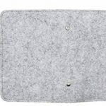 Hossty A6en feutre de laine Feuilles mobiles ordinateur portable rechargeable écriture Journal Planner Agenda de voyage avec poche pour cartes & Pen Holder (100pages) taille unique gris clair de la marque Hossty image 3 produit
