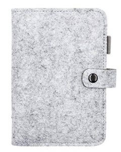 Hossty A6en feutre de laine Feuilles mobiles ordinateur portable rechargeable écriture Journal Planner Agenda de voyage avec poche pour cartes & Pen Holder (100pages) taille unique gris clair de la marque Hossty image 0 produit
