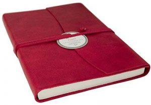 Journal Capri Grand Format Enveloppe Cuir Italien Fait-main Brique réfractaire, Uni Pages (21cm x 15cm x 2cm) de la marque LEATHERKIND image 0 produit