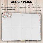 l'agenda de journal carnet organisateur et calendrier(Black Tropical) de la marque Er Way image 4 produit