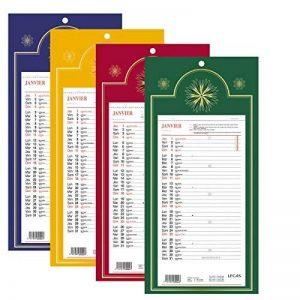LECAS - 1 Plaque Calendrier Mensuel Long Classique - Janv. à Déc. 2019- 16 x 33,3 cm - 4 coloris disponibles de la marque LECAS image 0 produit