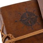 LEORX Notebook écriture livres Vintage Housse PU Feuilles pour agenda Journal Marron de la marque LEORX image 3 produit