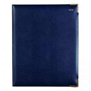 Lett de 2016semainier classique avec Doré coins, Bleu, 26x 21cm (C32ybe-16) de la marque Letts image 0 produit