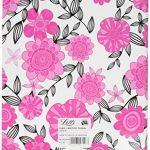 Letts 16–030046p Agenda scolaire 12mois A5Flexi Pattern–Sketchy Floral, 1semaine sur 2pages, 2015–2016, rose de la marque Letts image 1 produit