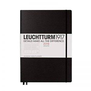 Leuchtturm1917357901académique Agenda semainier 18mois Master (A4Plus) 2019, Anglais Noir de la marque Leuchtturm1917 image 0 produit