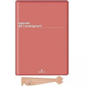 Lot Agenda de L'enseignant 2018-2019 Boreal d'Oberthur 1 Jour par page Framboise + 1 Règle Marque-Page en bois Blumie. de la marque Blumie Shop image 0 produit