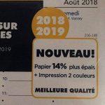 Lot Filofax Recharge Personal 2018 2019 Français 1 semaine sur 2 pages Vertical + Stylo bille Blumie de la marque Blumie Shop image 2 produit