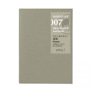 Midori Traveler's Notebook (Refill 007) Passport Size Weekly Diary de la marque Designphil image 0 produit