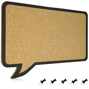 Navaris Tableau d'affichage en liège / 44 x 29 cm/tableaux mémo design bulle / 100% liège/incl. 5 punaises/stable / support mural/sans cadre de la marque Navaris image 0 produit