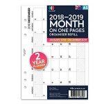 NBplanner Recharge pour agenda Filofax en anglais 2 ans 1 mois par page Multicolore Format A5 blanc de la marque NBplanner image 1 produit